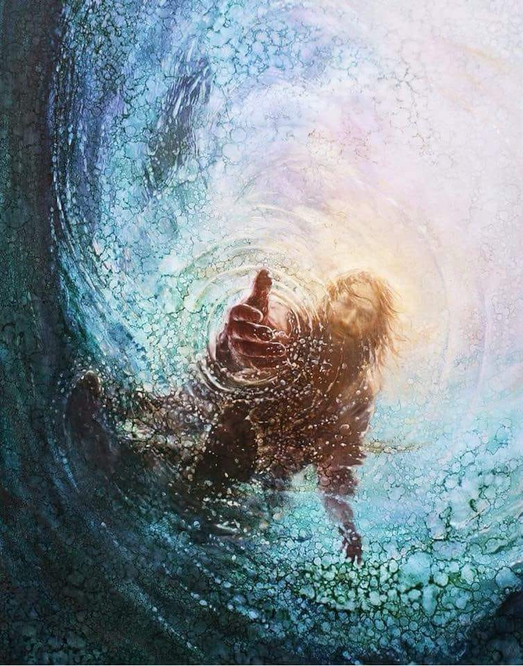 when you fee like you are drowning in life - don't worry - your lifeguard waks on water